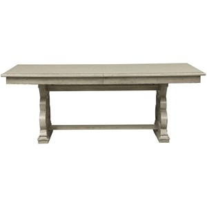 "Traditional Trestle Table with Removable 18"" Leaf"