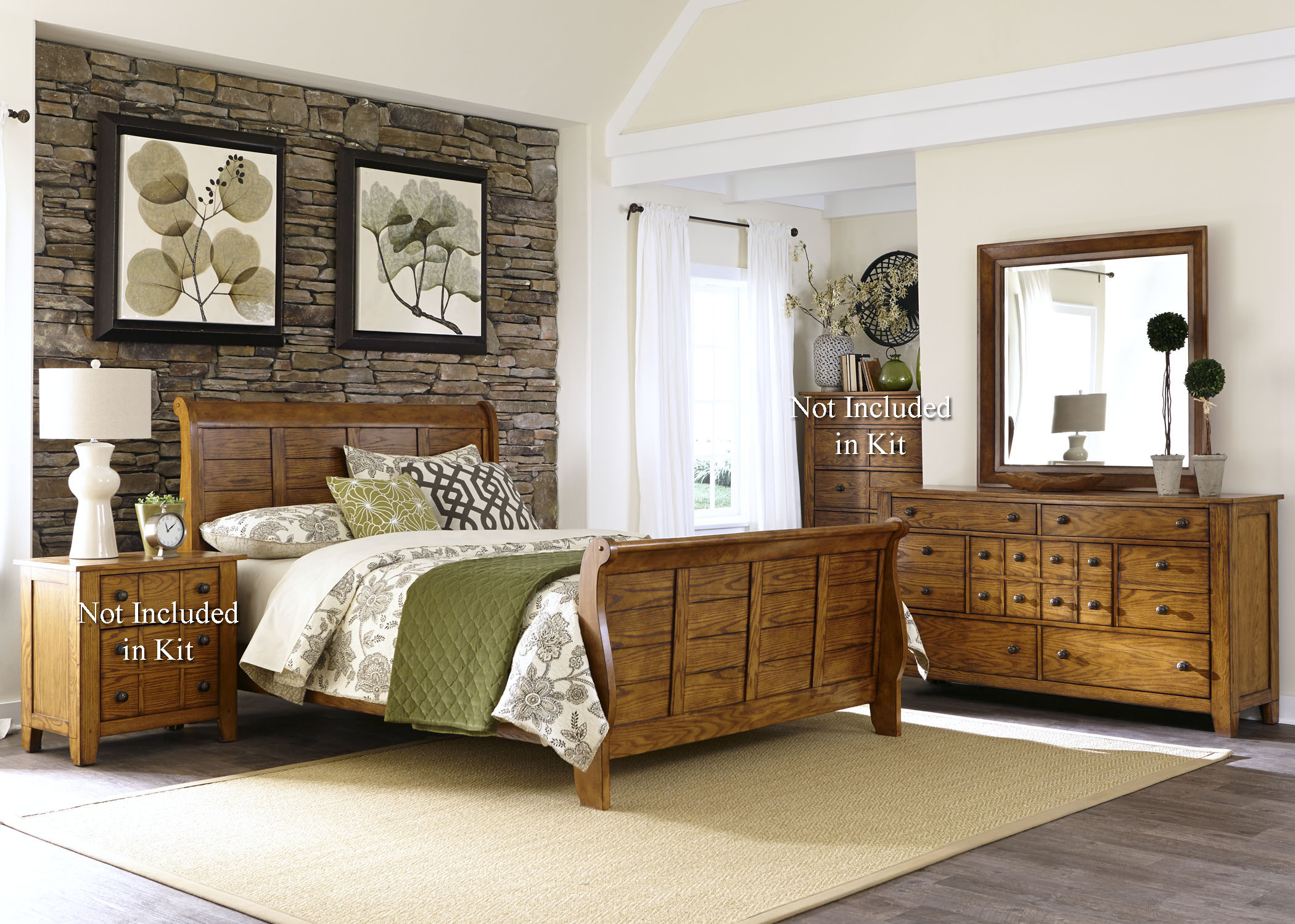 Grandpa's Cabin Queen Bedroom Group by Liberty Furniture at Northeast Factory Direct