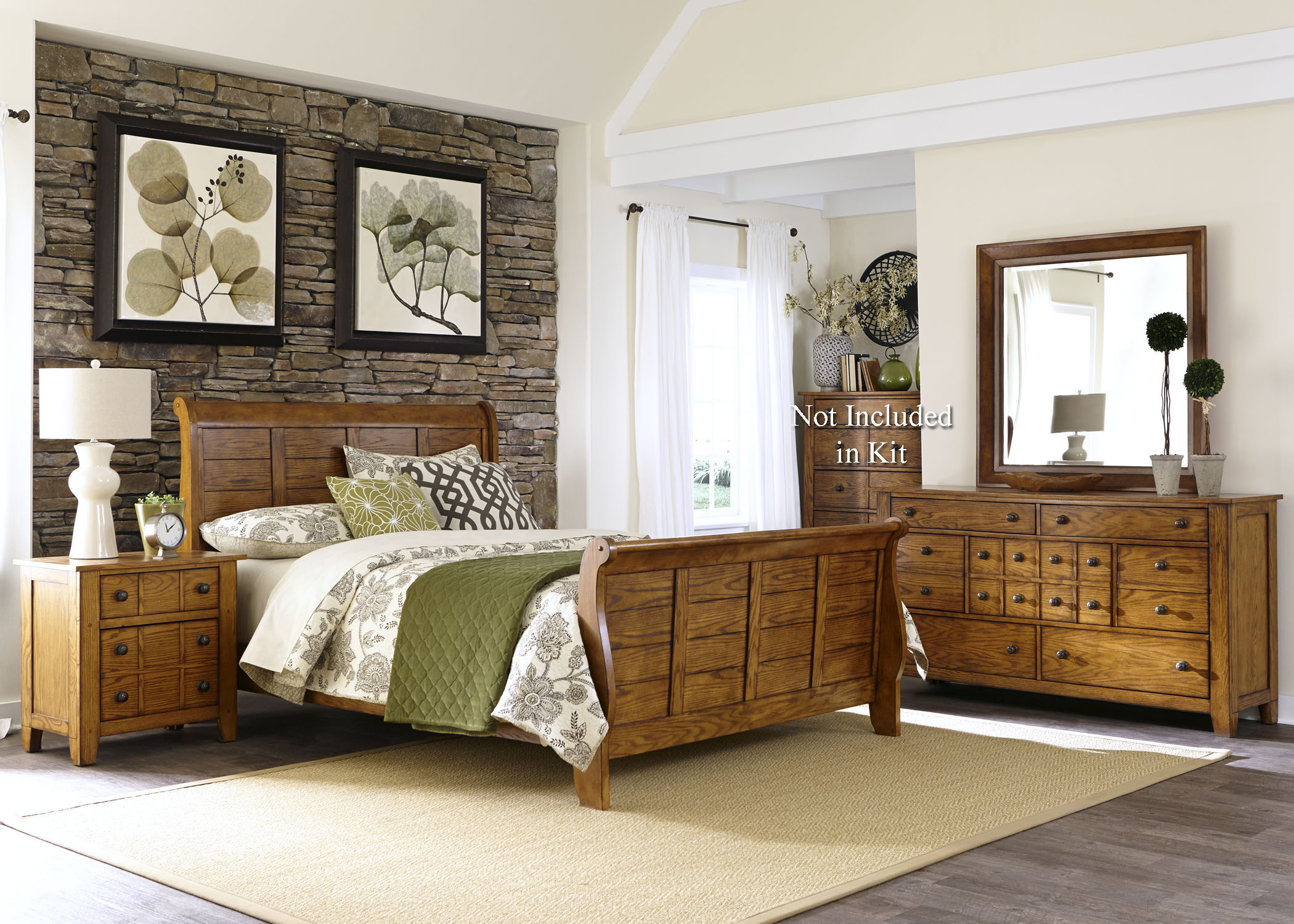 Grandpa's Cabin Queen Bedroom Group by Liberty Furniture at Catalog Outlet