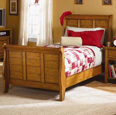 Grandpa's Cabin Twin Sleigh Bed by Libby at Walker's Furniture