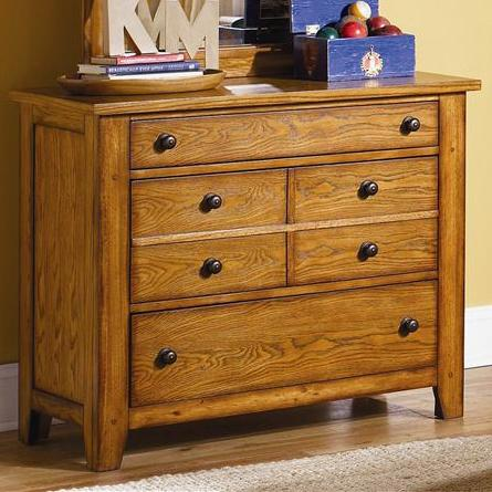 Grandpa's Cabin Three Drawer Dresser by Liberty Furniture at Northeast Factory Direct