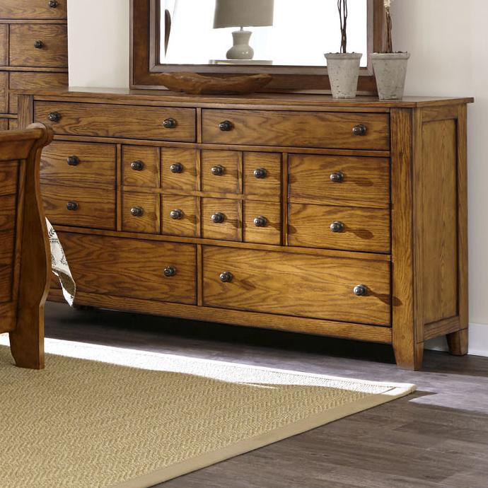 Grandpa's Cabin 7 Drawer Dresser by Libby at Walker's Furniture