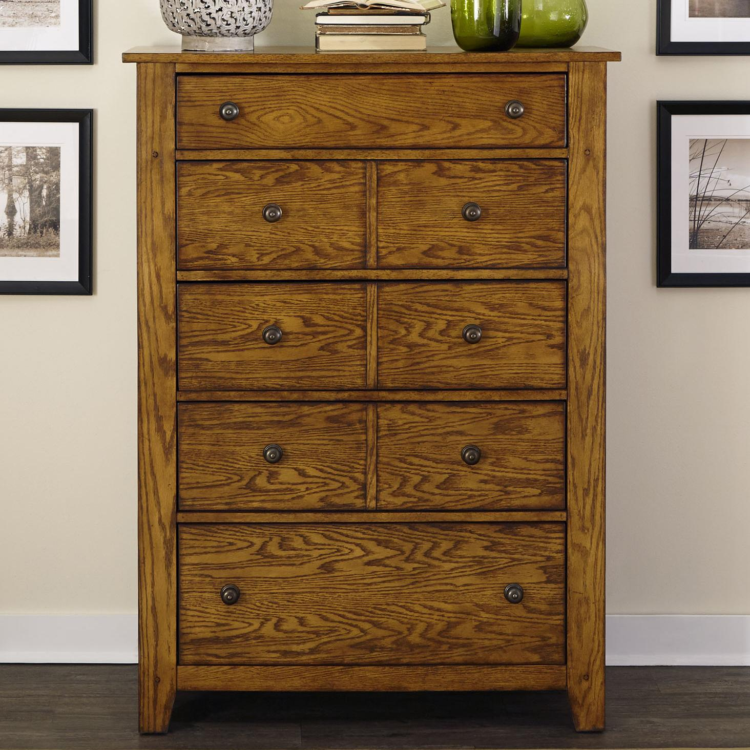 Grandpa's Cabin 5 Drawer Chest by Liberty Furniture at Standard Furniture