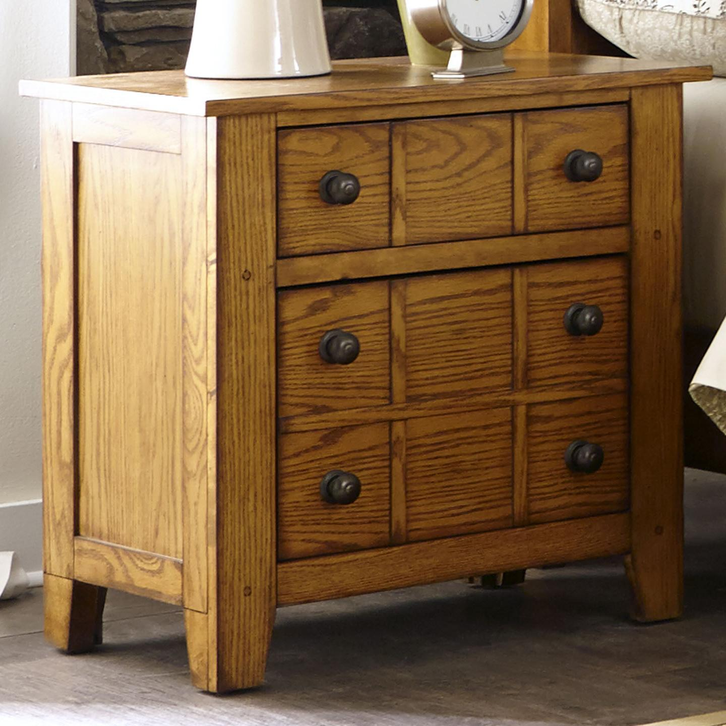 Grandpa's Cabin Drawer Night Stand by Libby at Walker's Furniture