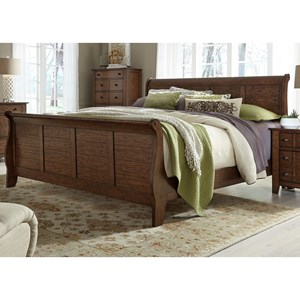 Queen Sleigh Bed with Paneling