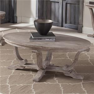 Transitional Oval Cocktail Table