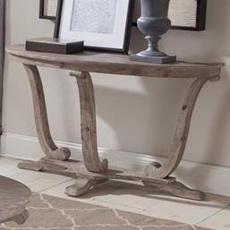Transitional Distressed Sofa Table