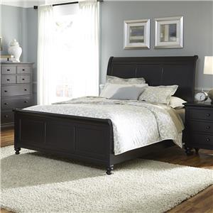 Transitional King Sleigh Bed
