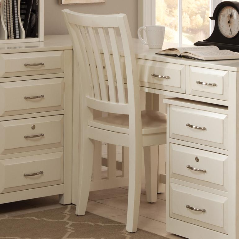 Hampton Bay - White Office Side Chair by Liberty Furniture at Lapeer Furniture & Mattress Center