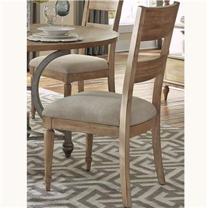 Dining Side Chair with Slat Back