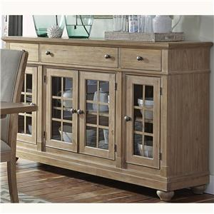 Buffet with 3 Shelves and 4 Doors
