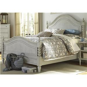 King Poster Bed with Barley Twist Accents