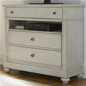 Media Chest with 3 Drawers and Storage Compartment