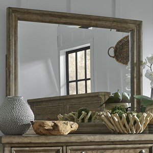 Relaxed Vintage Mirror with Beveled Glass