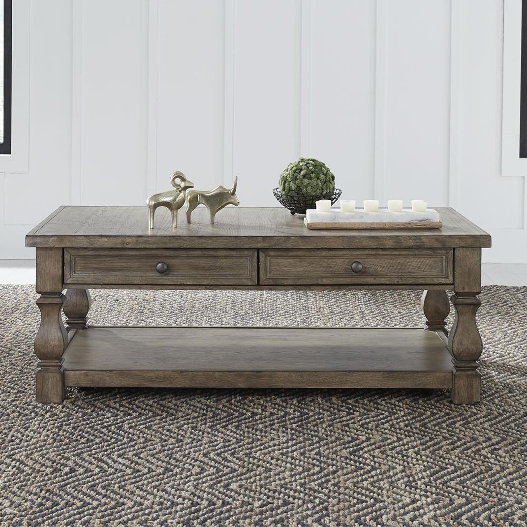 Harvest Home Cocktail Table by Libby at Walker's Furniture