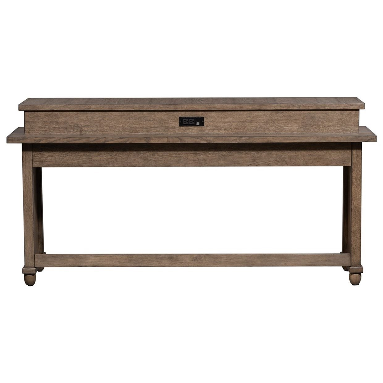 Harvest Home Console Bar Table by Libby at Walker's Furniture