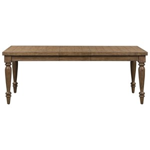 Relaxed Vintage Two-Toned Rectangular Leg Table