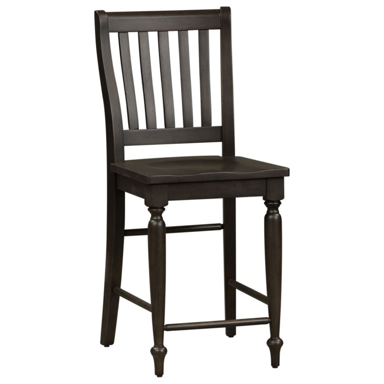 Harvest Home Slat Back Counter Chair by Libby at Walker's Furniture