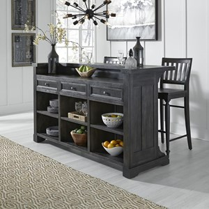 Relaxed Vintage Bar with Bottle Storage