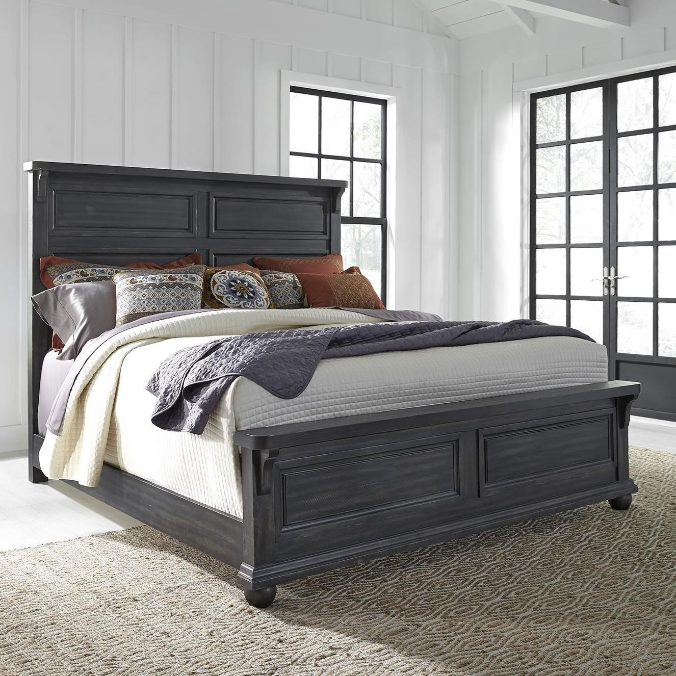 Harvest Home King Panel Bed by Libby at Walker's Furniture