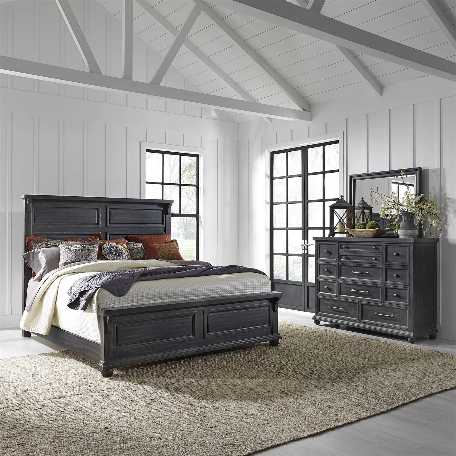 Harvest Home Queen Bedroom Group by Libby at Walker's Furniture