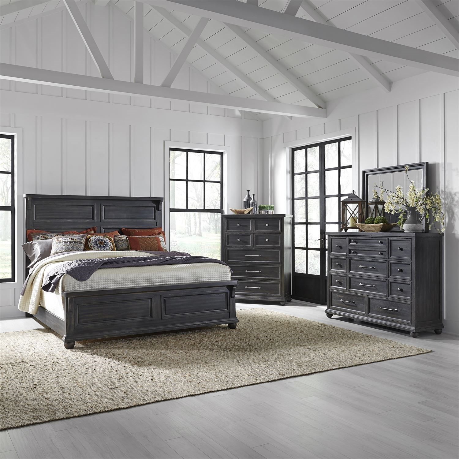 Harvest Home Queen Bedroom Group by Liberty Furniture at Standard Furniture