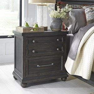 Relaxed Vintage Night Stand with Charging Station