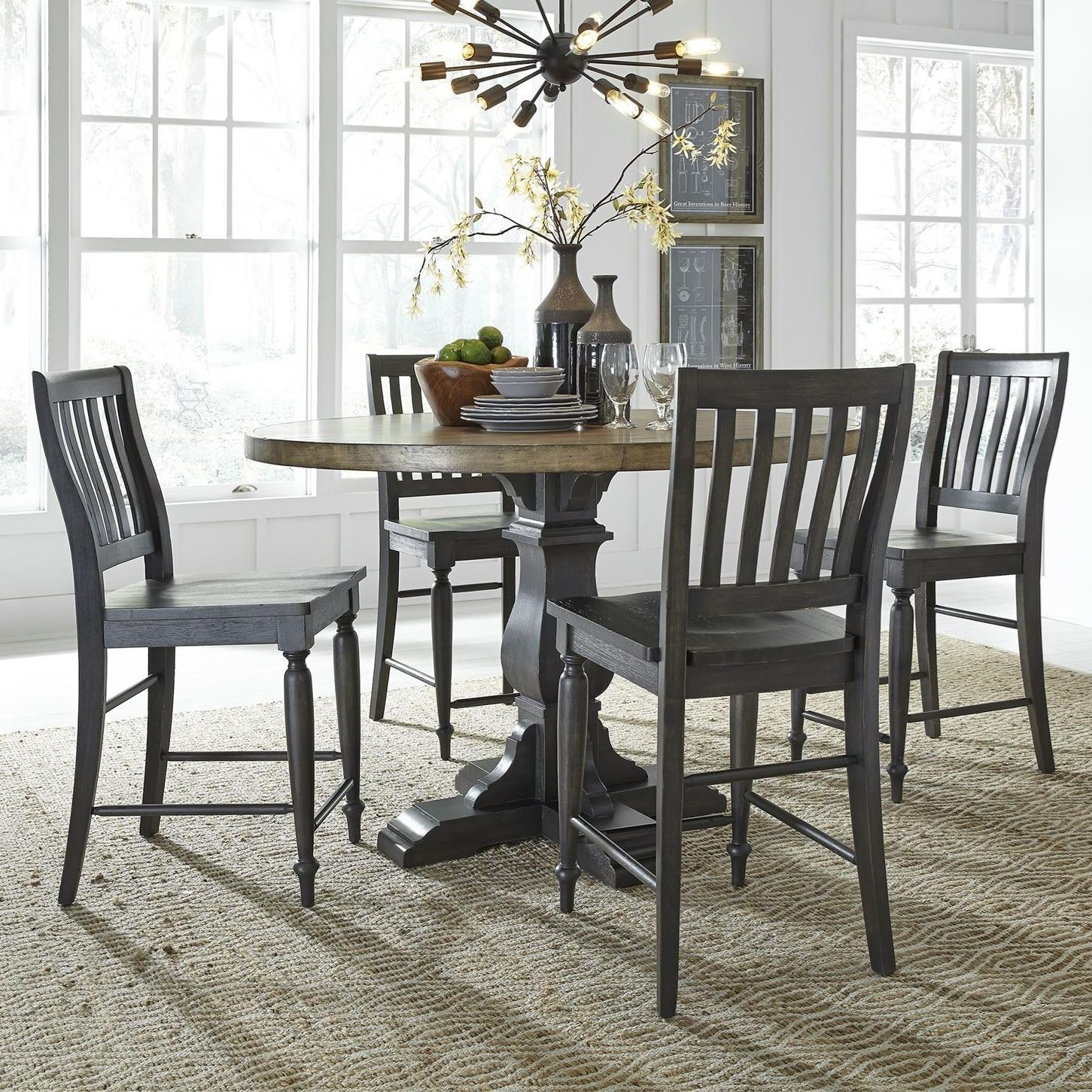 Harvest Home 5-Piece Gathering Table Set by Liberty Furniture at Northeast Factory Direct