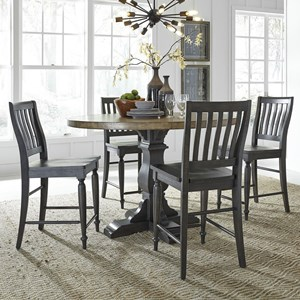 Relaxed Vintage 5-Piece Gathering Table Set