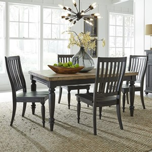 Relaxed Vintage 5-Piece Rectangular Table Set