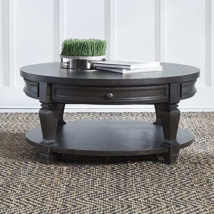 Harvest Home Round Cocktail Table by Liberty Furniture at Catalog Outlet