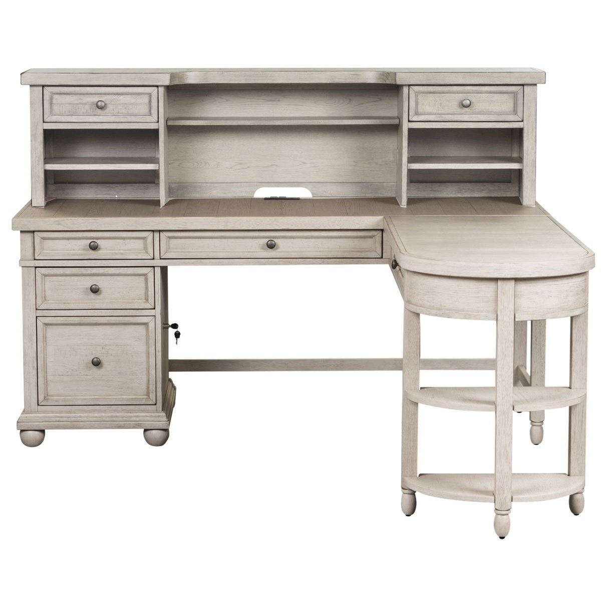 Harvest Home L-Shaped Desk Set by Liberty Furniture at Northeast Factory Direct