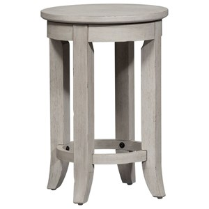 Relaxed Vintage Counter Height Console Stool