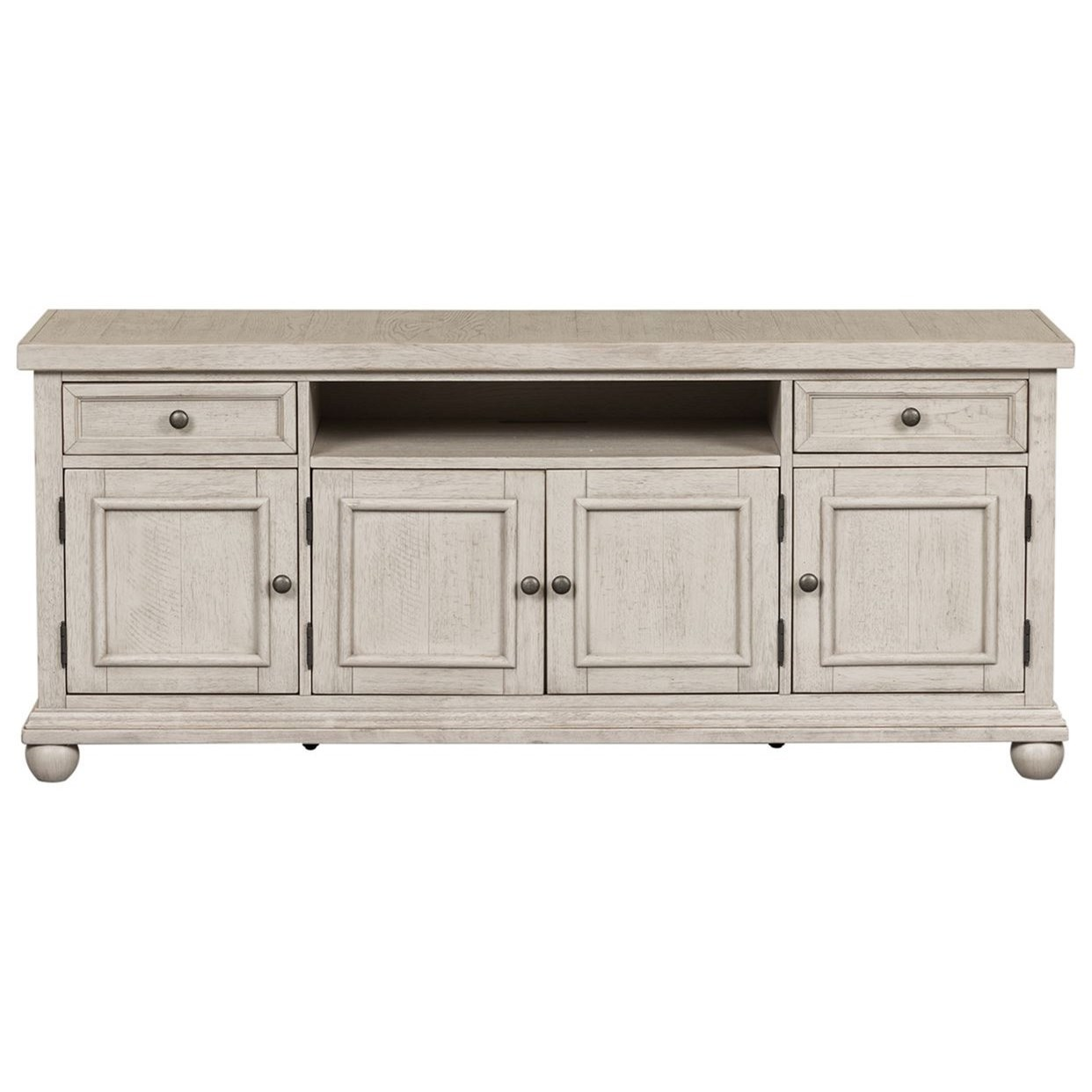 """Harvest Home 66"""" TV Console by Libby at Walker's Furniture"""