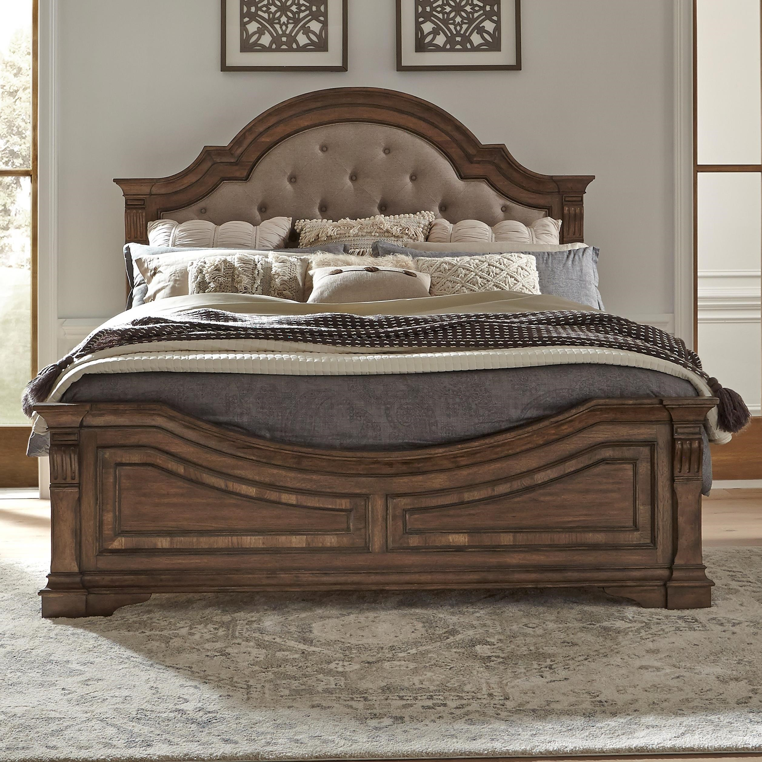 Haven Hall King Upholstered Panel Bed by Liberty Furniture at Bullard Furniture