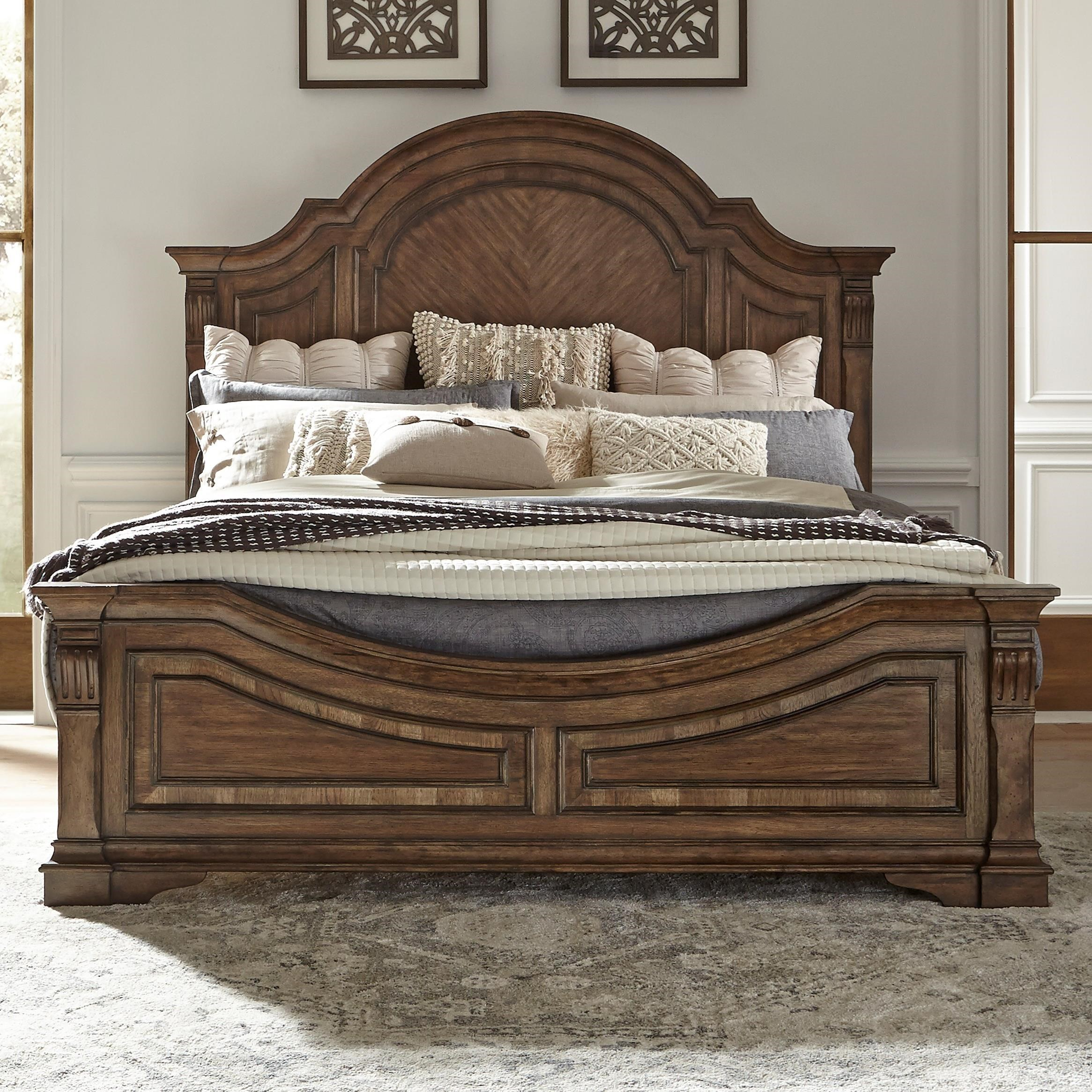 Haven Hall Queen Panel Bed by Libby at Walker's Furniture
