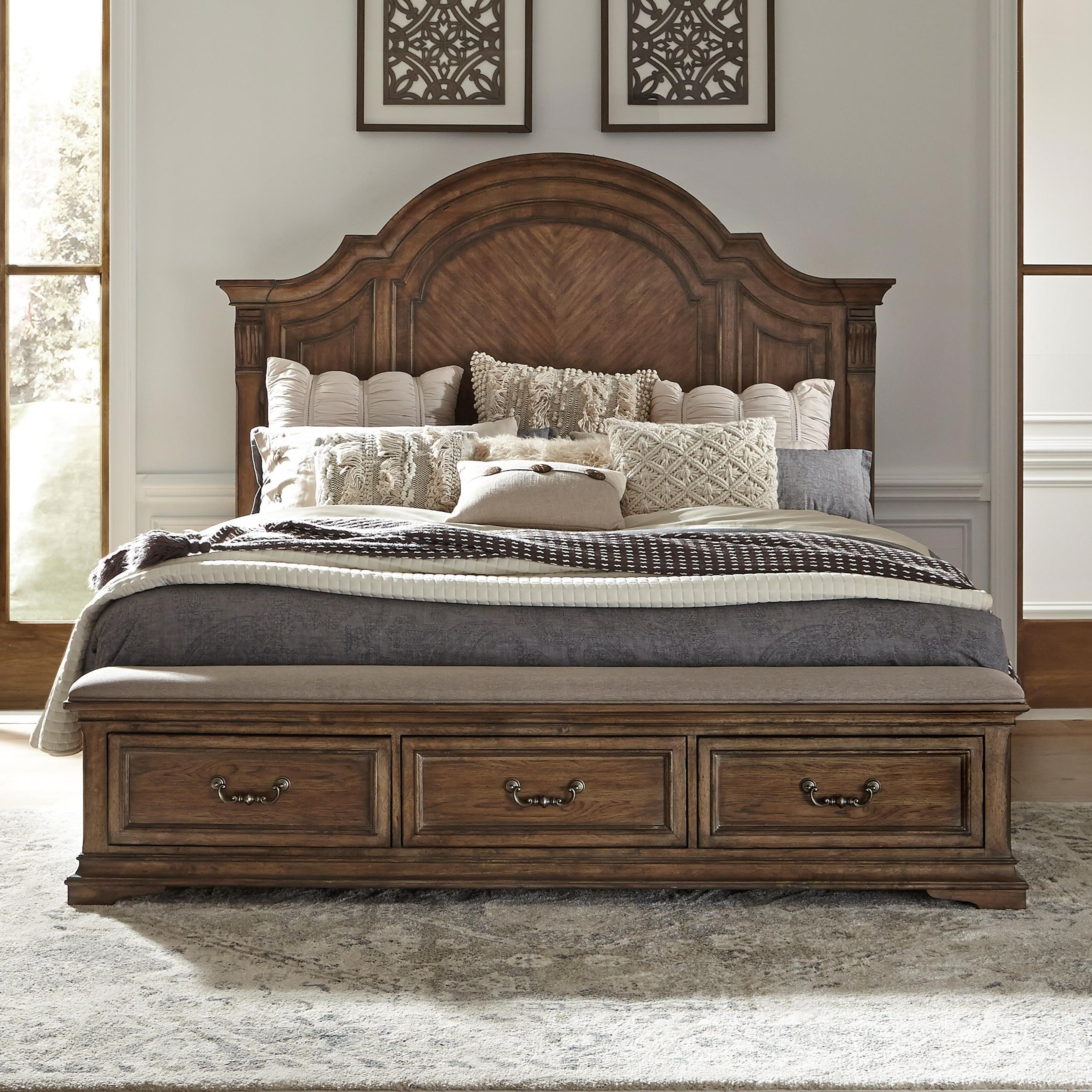 Haven Hall King Storage Bed by Libby at Walker's Furniture