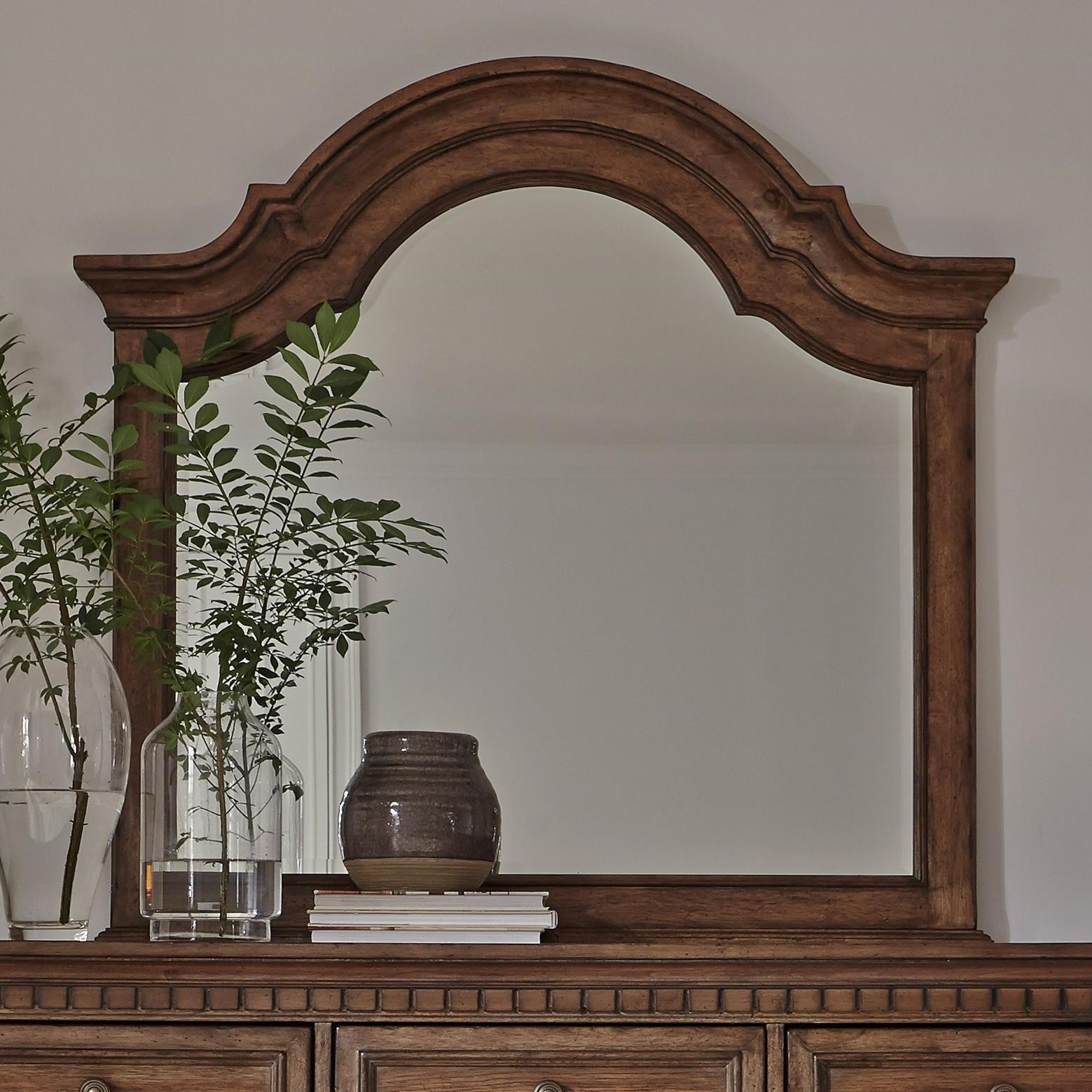 Haven Hall Arched Mirror by Liberty Furniture at Darvin Furniture