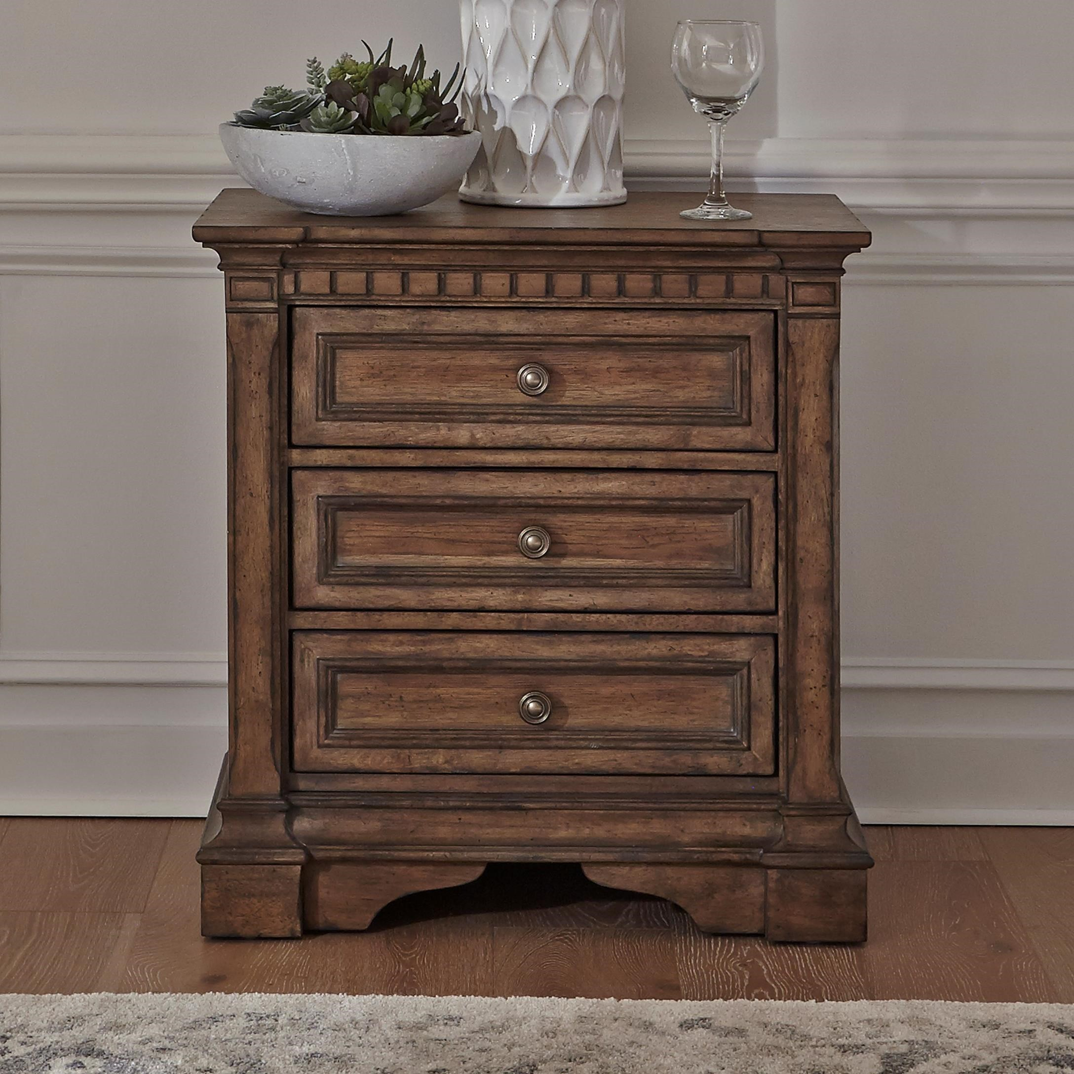 Haven Hall 3-Drawer Nightstand by Liberty Furniture at Darvin Furniture