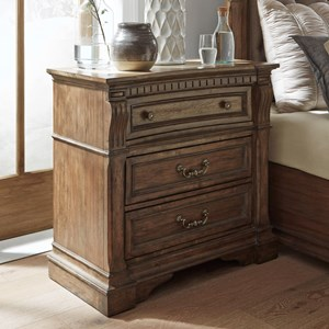 Traditional 3-Drawer Bedside Chest