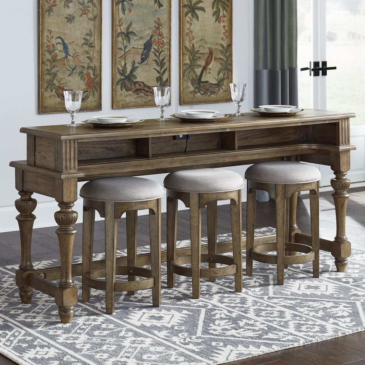 Haven Hall 4-Piece Counter Height Bar Table Set by Liberty Furniture at Northeast Factory Direct