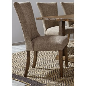 Casual Upholstered Side Chair