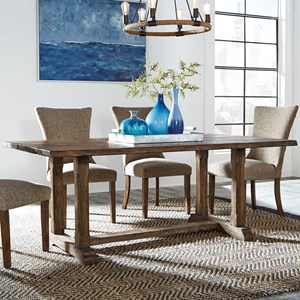 Casual Trestle Table with Live Edge