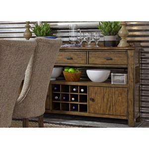 Casual Sideboard with Wine Bottle Storage