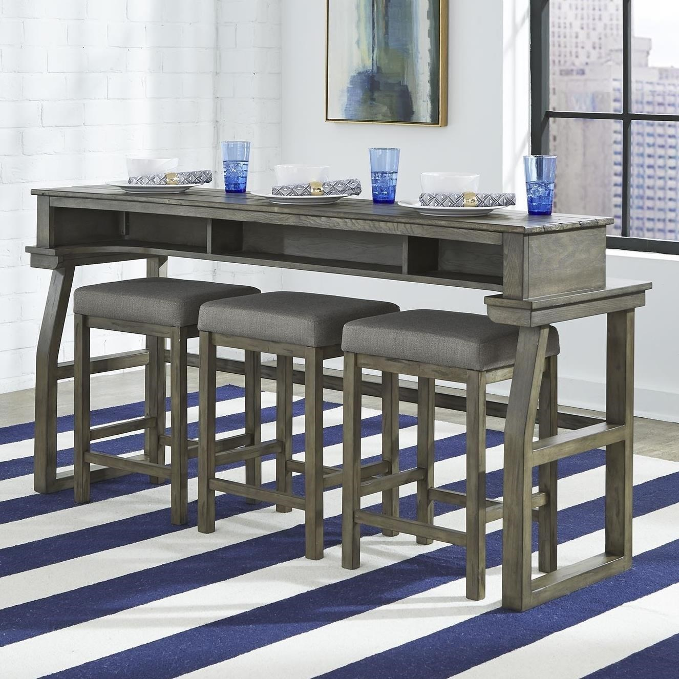 Hayden Way 4-Piece Sofa Bar Table Set by Libby at Walker's Furniture