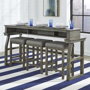 4-Piece Sofa Bar Table Set