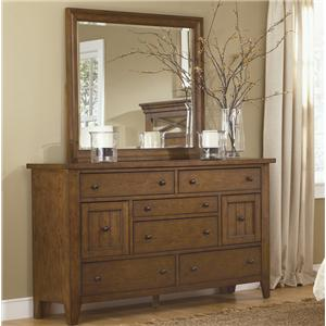 Liberty Furniture Hearthstone Dresser & Mirror