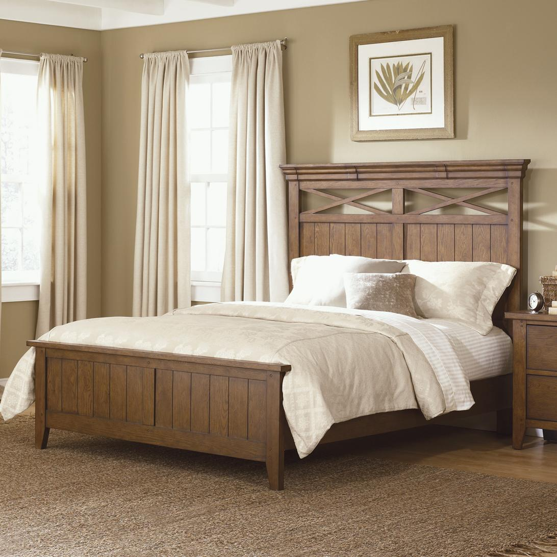 Hearthstone Queen Panel Bed by Liberty Furniture at Lapeer Furniture & Mattress Center