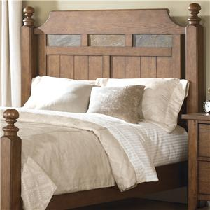 King Poster Headboard with Decorative Slate Inlay