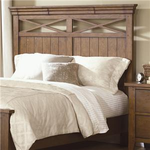 Queen Panel Headboard with Planked Accents